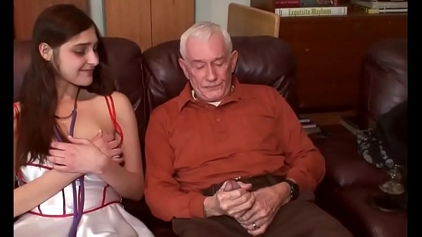 yogaxxx young brunette first time debut with grandpa